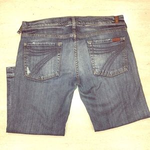 Seven7 Jeans Womens Semi flare crop Capri Jeans